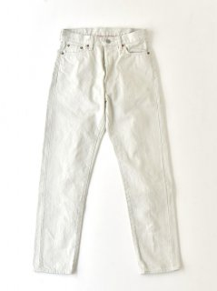Ordinary fits OM-P110OW 5POCKET ANKLE DENIM white one wash(UNISEX)