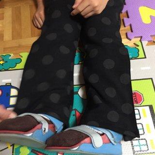 裾の開くパンツ【装具着脱対応機能付き】