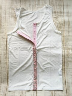 加工オプション リフォーム前開き スナップボタン付け 袖口加工など 胃ロウの穴 装飾など