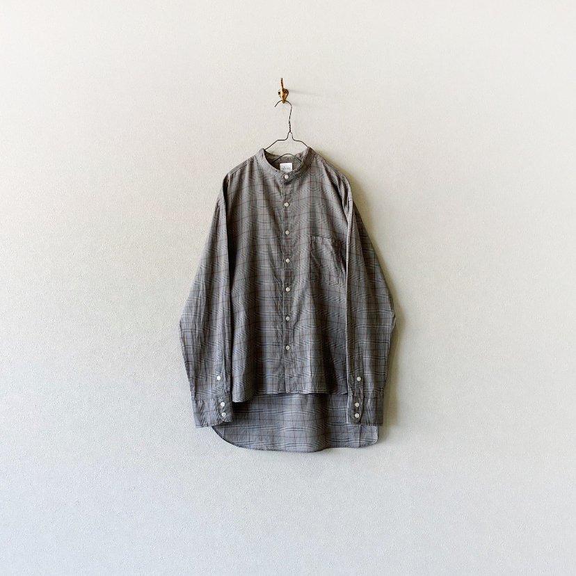 【MY-SH002】ボイルチェック バンドカラー L/S シャツ