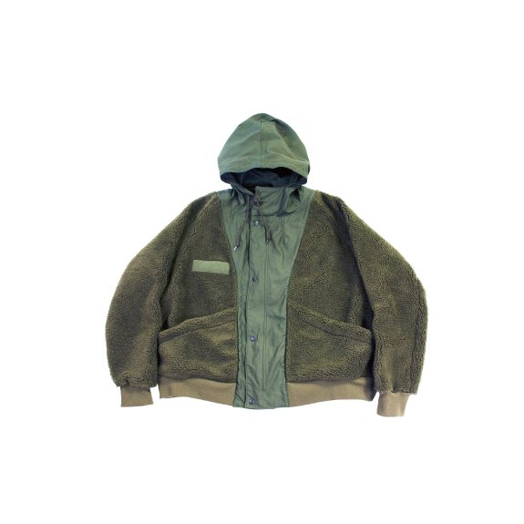 【H-JK014】Backsatin × Boa fleece switching jacket