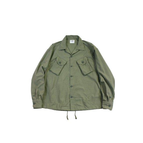 【H-SH026】Backsatin combat long sleeves shirt