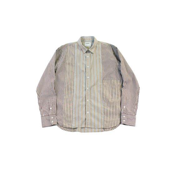 【H-SH031】Stripe crasy long sleeves shirt