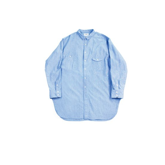 <img class='new_mark_img1' src='https://img.shop-pro.jp/img/new/icons20.gif' style='border:none;display:inline;margin:0px;padding:0px;width:auto;' />【H-SH012】Chambray work long shirt