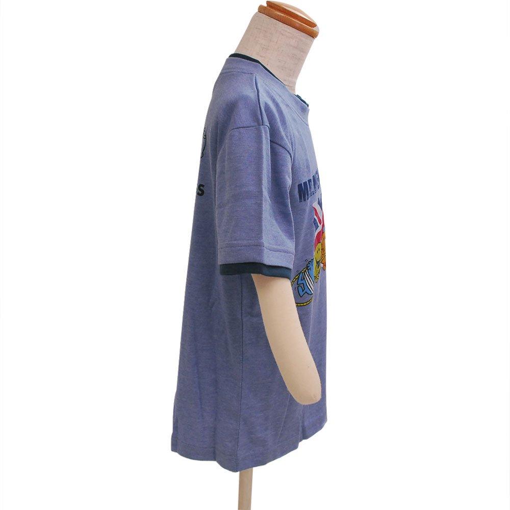 MR.MEN キッズレイヤードTシャツ(ブルー)120 642MR0031 MM