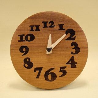 <span class='ic03'>送料無料</span>木の時計「nori nori」 ケヤキ(欅) クォーツ clock-no-01-keyaki