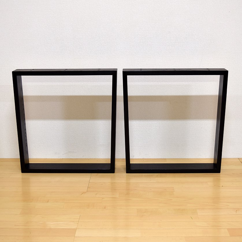 <img class='new_mark_img1' src='https://img.shop-pro.jp/img/new/icons3.gif' style='border:none;display:inline;margin:0px;padding:0px;width:auto;' />一枚板用 脚:タモ材 SBD型 ブラック ボルト固定タイプ(ダイニング用)ashi-sb-d-bk