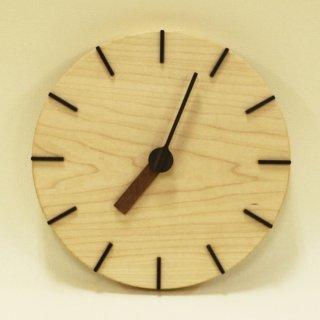 <span class='ic03'>送料無料</span>木の時計「deco(デコ)」 メープル クォーツ clock-dc-01