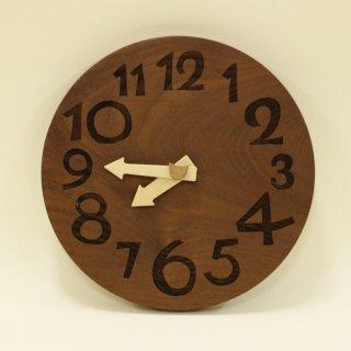 <span class='ic03'>送料無料</span>木の時計「nami(なみ)」 桑(くわ) クォーツ clock-n-27