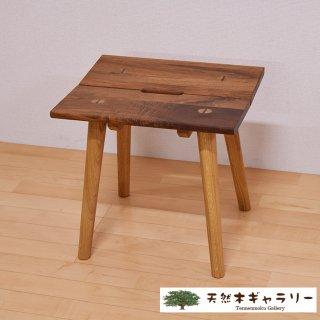 <span class='ic03'>送料無料</span>天然木スツール ウォールナット&ホワイトオーク stool-k-14688wo
