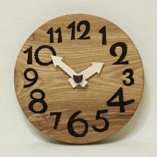 <span class='ic03'>送料無料</span>木の時計「conma(コンマ)」 楡(にれ) クォーツ clock-c-38