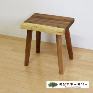 <span class='ic03'>送料無料</span>一枚板 スツール(飾り台) モンキーポッド stool-monki-m13