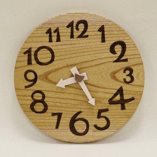 <span class='ic03'>送料無料</span>木の時計「DECCA(デッカ)」 ケヤキ  (欅)  クォーツ clock-d-54-keyaki
