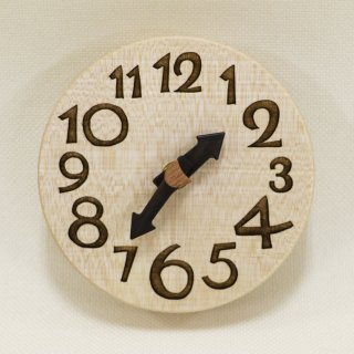 木の時計『手のひらconma』 楓 (かえで)  クォーツ clock-tc-23