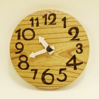 <span class='ic03'>送料無料</span>木の時計「nami(なみ)」 欅(けやき) クォーツ clock-n-19-keyaki