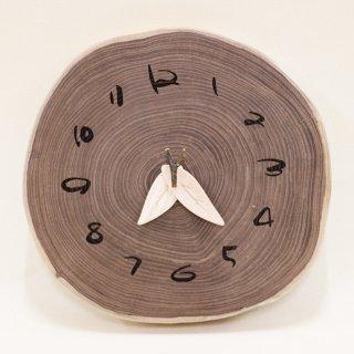 <span class='ic03'>送料無料</span>木の時計 『大きな切り株時計』  エンジュ クォーツ clock-kl-06