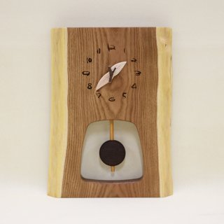 <span class='ic03'>送料無料</span>木の時計 『森の振り子時計』 M エンジュ クォーツ clock-mm-212