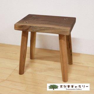 <span class='ic03'>送料無料</span>一枚板 スツール(飾り台) ブラックウォールナット stool-w02-01
