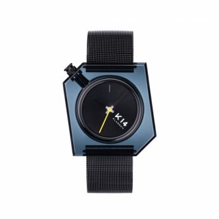 K14 IRREGULARLY SQUARE Dark with Mesh Strap 40mm