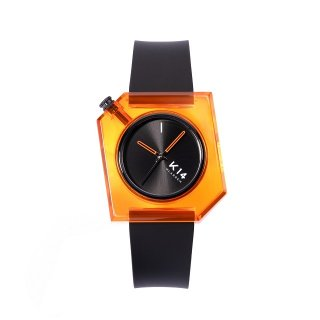 K14 IRREGULARLY SQUARE Think Orange 40mm