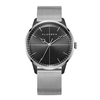 DISCO VOLANTE Silver Black with Mesh Strap 40mm