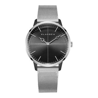 DISCO VOLANTE Silver Black with Mesh Strap 36mm