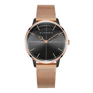 DISCO VOLANTE Rose Gold Black with Mesh Strap 36mm