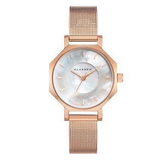 Volare OKTO MOP White with Mesh Strap 28mm