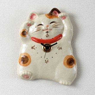 福々招き猫 掛時計