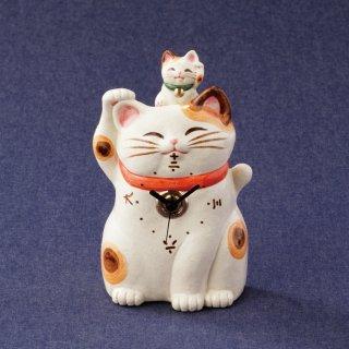 福々招き猫 親子置時計