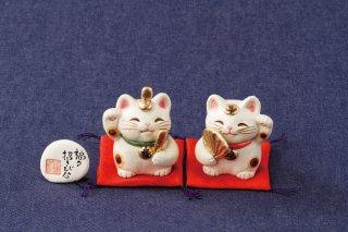 福々招き猫 招き雛(小)