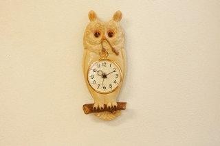 フクロウ 柱時計