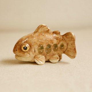 【大】陶器のいわな みずみずしい川魚