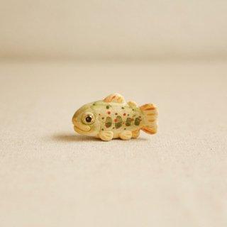 【小】陶器のあまご みずみずしい川魚