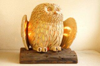 フクロウ 月影ランプ