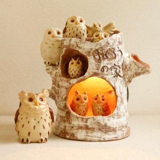 ふくろうの家 ランプ 日本のフクロウセット