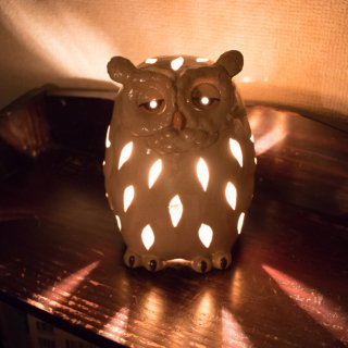 灯りの森のフクロウ ランプ