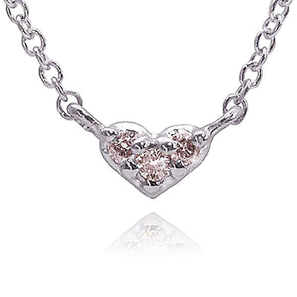 ピンクダイヤモンド×ハートネックレス
