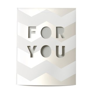 MESSAGE FLOWER VASE<br>FOR YOU M (CF10M)