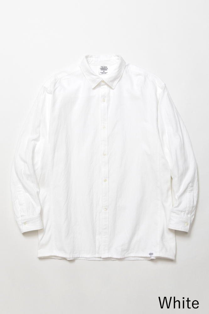 TF 切り替えシャツ ブロード織り風タオルクロス【画像2】