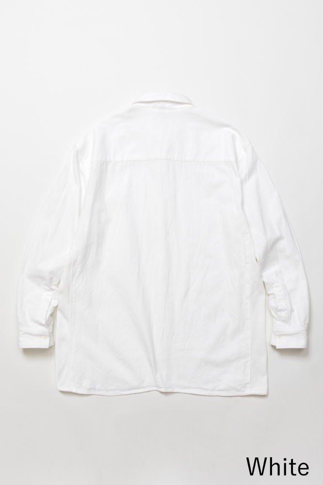 TF 切り替えシャツ ブロード織り風タオルクロス【画像3】
