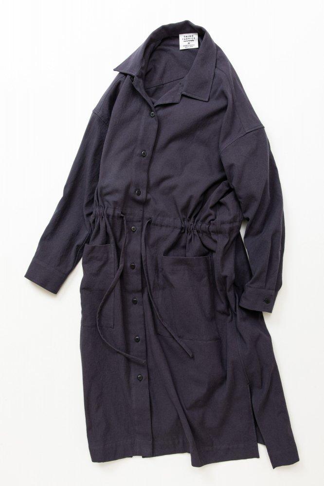 TF ロングシャツドレス ブロード織り風タオルクロス