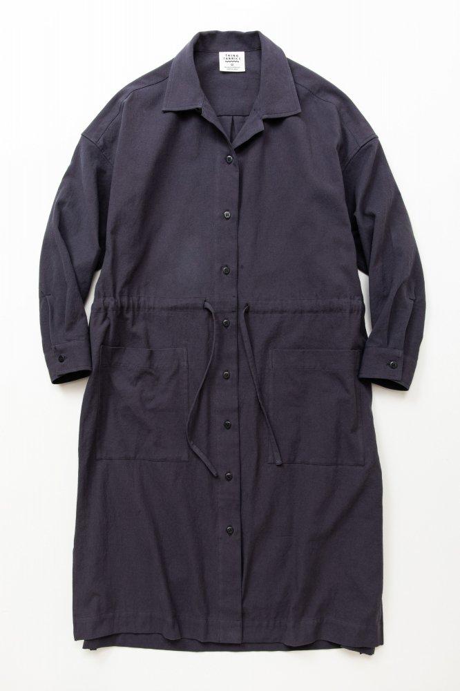 TF ロングシャツドレス ブロード織り風タオルクロス【画像2】