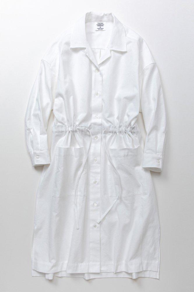 TF ロングシャツドレス ブロード織り風タオルクロス【画像4】
