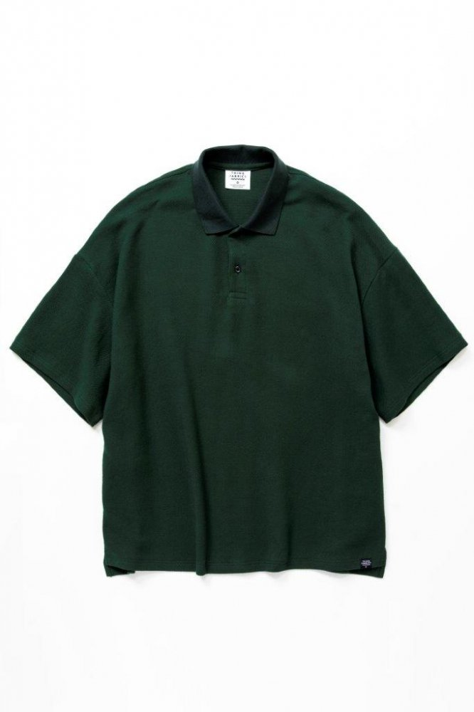 ポロシャツ バスケット柄タオルクロス