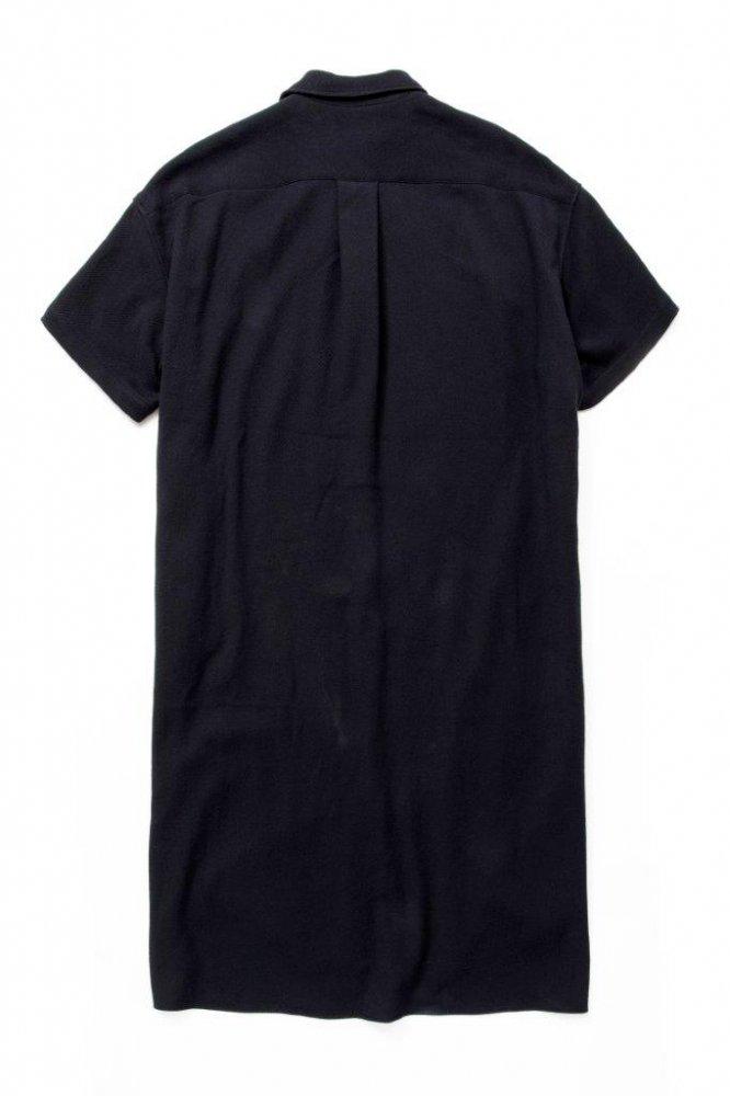 ロングドレスシャツ バスケット柄タオルクロス【画像2】