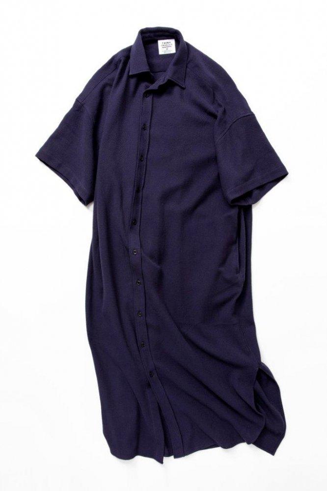 ロングドレスシャツ バスケット柄タオルクロス【画像3】