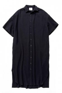 ギフト ロングドレスシャツ バスケット柄タオルクロス