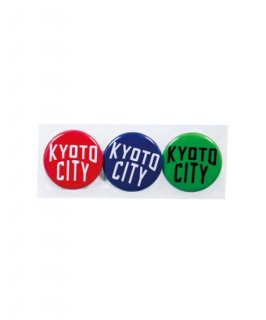 KYOTO CITY CAN BADGE 3SETS