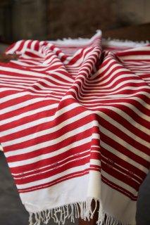 Cloth of Chefchaouen メンディール厚地 レッド×ホワイト
